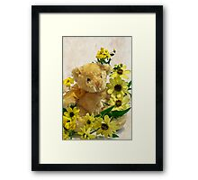 Teddy Bear - Yellow Toto Lemon Rudbeckia Framed Print