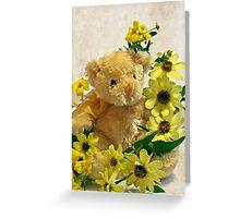 Teddy Bear - Yellow Toto Lemon Rudbeckia Greeting Card