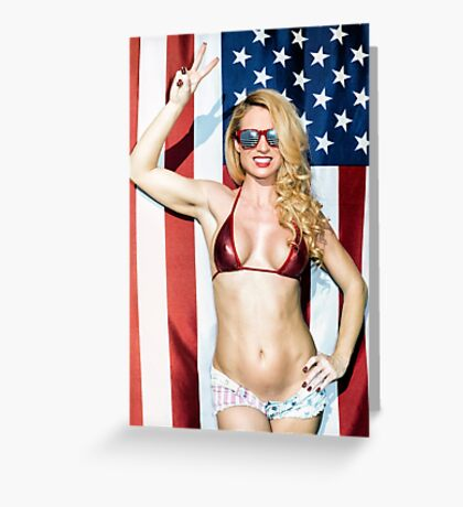 American Blond Beauty 8795 Greeting Card