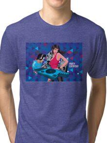 DJ party everyday Tri-blend T-Shirt