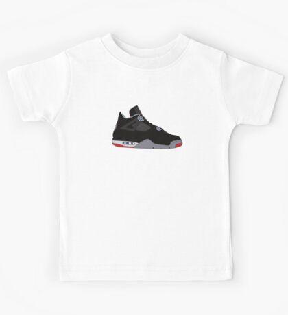 "Air Jordan IV (4) ""Bred"" Kids Tee"