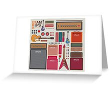 compilation guitar and amplifier Greeting Card