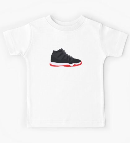 "Air Jordan XI (11) ""Bred"" Kids Tee"