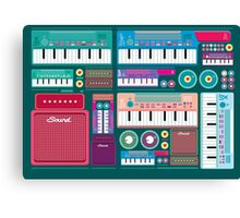 Colorful Synthesizer  Canvas Print