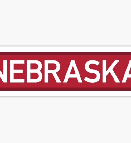 Nebraska R Sticker
