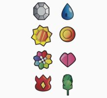Kanto Pokemon Badges Full Set by ydt89