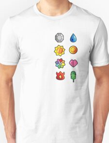 Kanto Pokemon Badges Full Set T-Shirt