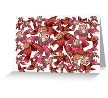 Cute random owl pattern Greeting Card