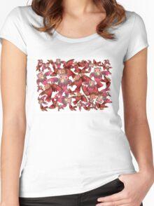 Cute random owl pattern Women's Fitted Scoop T-Shirt