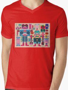 vintage robot and camera composition Mens V-Neck T-Shirt