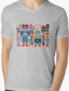 vintage robot and camera composition Mens V-Neck T-Shirt