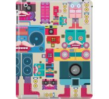 vintage robot and camera composition iPad Case/Skin