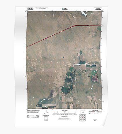 USGS TOPO Map Colorado CO Omar 20100816 TM Poster