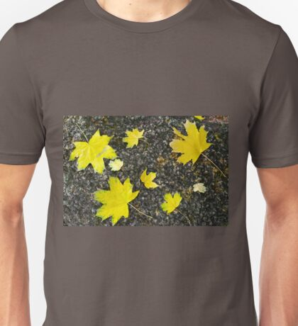 Several yellow autumn maple leaves Unisex T-Shirt