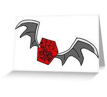 DRAGON DICE Greeting Card