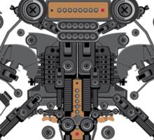 guitar robot character design Sticker
