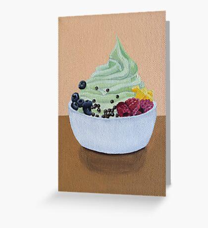 Frozen Yogurt Painting Greeting Card