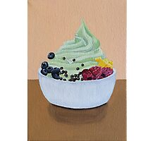 Frozen Yogurt Painting Photographic Print