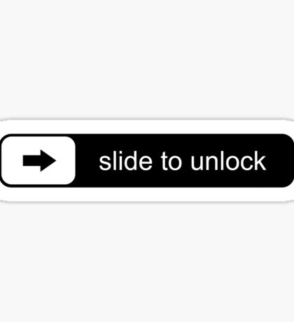 Slide to unlock Sticker