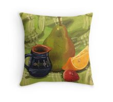 Fruit Still Life Painting Throw Pillow