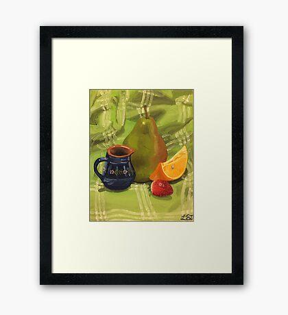 Fruit Still Life Painting Framed Print