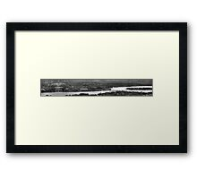 The Lake Panorama - BW Framed Print