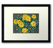 Yellow marigolds  Framed Print