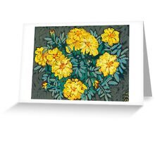 Yellow marigolds  Greeting Card