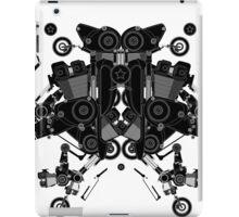 black motorbike robot 1 iPad Case/Skin