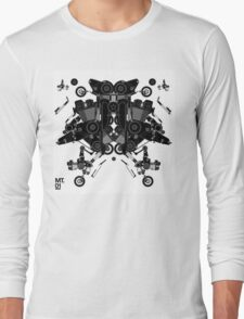 black motorbike robot 1 Long Sleeve T-Shirt