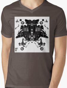 black motorbike robot 1 Mens V-Neck T-Shirt