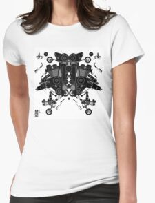 black motorbike robot 1 Womens Fitted T-Shirt