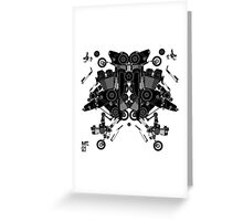 black motorbike robot 1 Greeting Card