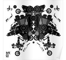 black motorbike robot 1 Poster