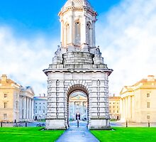 The Campanile At Trinity College In Dublin Ireland by Mark Tisdale