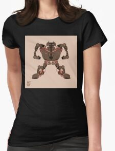 motorbike robo 1 Womens Fitted T-Shirt