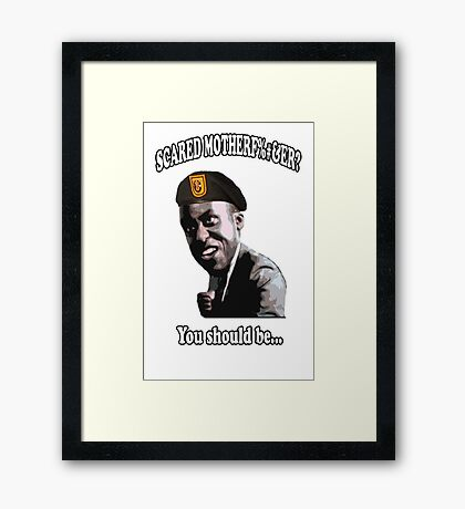 Commando - Scared mofo (clean) Framed Print