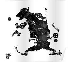 black motorbike robo 2 Poster