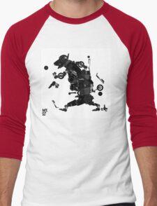 black motorbike robo 2 Men's Baseball ¾ T-Shirt