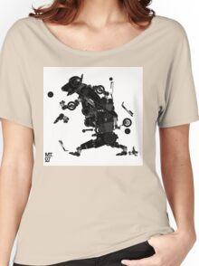 black motorbike robo 2 Women's Relaxed Fit T-Shirt