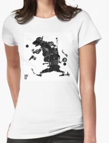 black motorbike robo 2 Womens Fitted T-Shirt