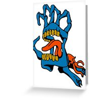 Monster Mouth Claw Greeting Card