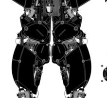 motorbike robo 3 Sticker