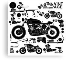 vintage motorbike cafe racer Canvas Print