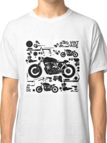 vintage motorbike cafe racer Classic T-Shirt