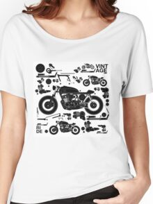 vintage motorbike cafe racer Women's Relaxed Fit T-Shirt