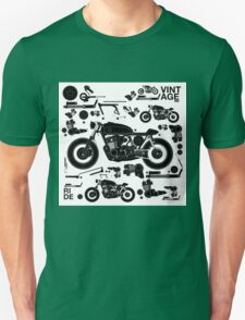 vintage motorbike cafe racer Unisex T-Shirt