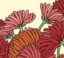The Retro Garden Flowers Sticker