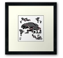 Animal robots Framed Print