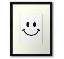 Smiley Face T-shirt Framed Print